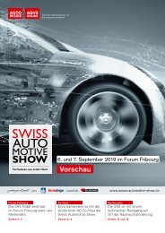Vorschau Swiss Automotive Show 2019
