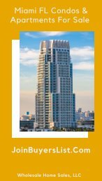 Miami FL Condos & Apartments For Sale | JoinBuyersList