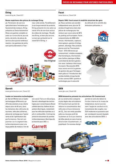 Magazine du salon Swiss Automotive Show 2019