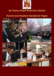Parent and Student Handbook 2019-20  -  SPH v1 privacy notice JDC Aug19