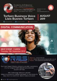 Torfaen Business Voice Newsletter August 2019 English