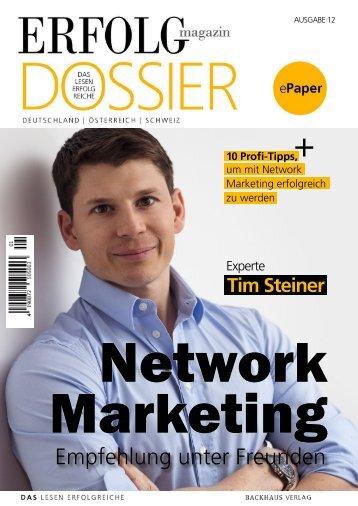 ERFOLG Magazin Dossier 12: Tim Steiner
