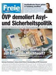 ÖVP demoliert Asyl- und Sicherheitspolitik