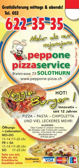 Peppone Pizza Flyer 2019