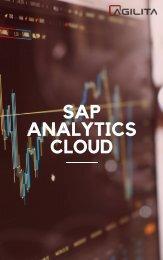 SAP Analytics Cloud AGILITA AG. Experience the future of decision making.