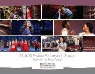 2019-20 Season Brochure