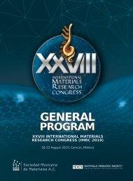 IMRC 2019 - General Program