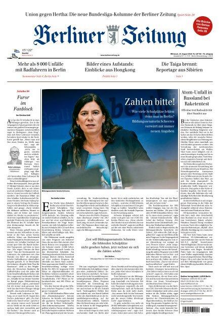 Berliner Zeitung 14.08.2019