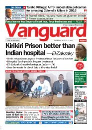 15082019 - Kirikiri prison better than indian hospital - El Zakzaky