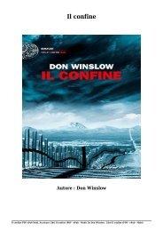 Scaricare Libri Il confine Gratis Di Don Winslow