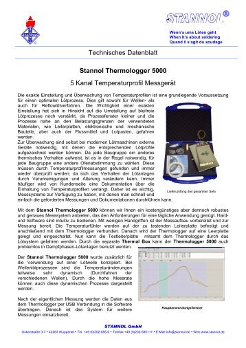 Stannol Thermologger 5000 - Baum Electronic