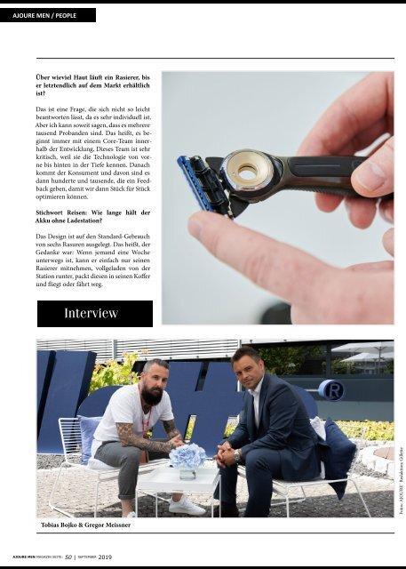 AJOURE´ Men Magazin September 2019