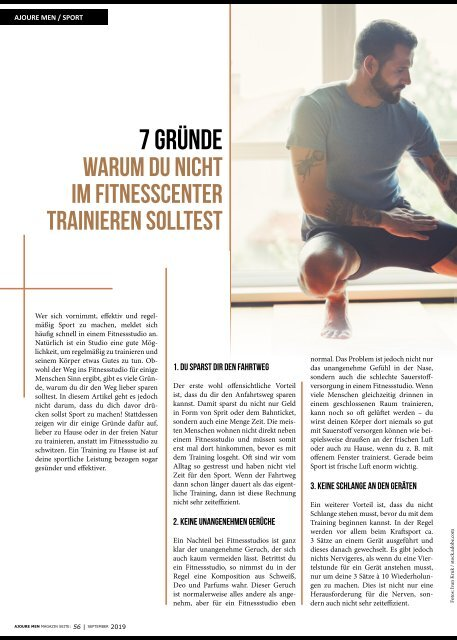 AJOURE´ Men Magazin September 2019