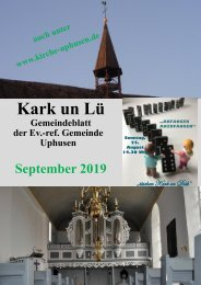 Kark un Lü September 2019