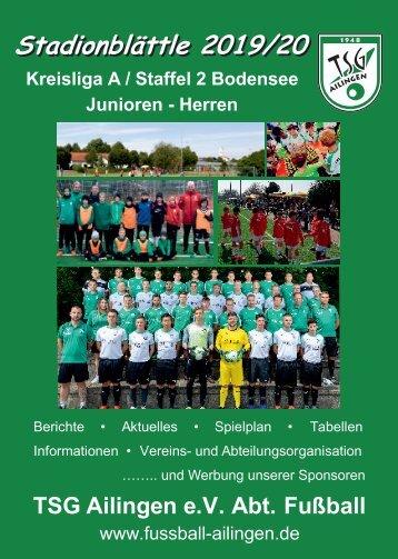 Stadionblättle TSG Ailingen e.V. 2019/2020