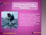 Pet Pharmacy Services - Monhagen Animal Hospital Middletown