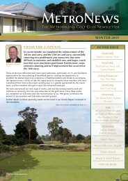 Metropolitan Golf Club - 2019 Winter Newsletter_WEB