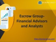 Escrow Group Hong Kong- Financial Advisors and Analysts