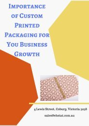 Importance of Custom Printed Packaging for You Business Growth