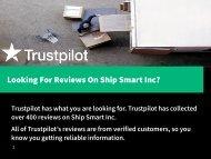 Ship Smart Reviews, Complaints, and Problems