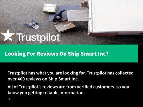 Ship Smart Reviews Complaints And
