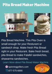 Pita Bread Maker Machine For Restaurant