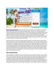 Absolute Keto Diet : Ketogenic Diet Pills Review, Price, Side Effects