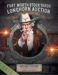 The 2019 Fort Worth Stockyards Longhorn Auction Catalog