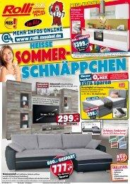 Heiße Sommer-Schnäppchen bei Rolli SB-Möbelmarkt in 65604 Elt bei Limburg