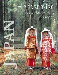 Japanreise Herbst Privatreise nach Japan für 2 Personen mit Luxushotels und BusinessClass Tokio und Osaka