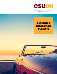 Fall 2019 CSUDH Extended Education Catalog (Interactive)