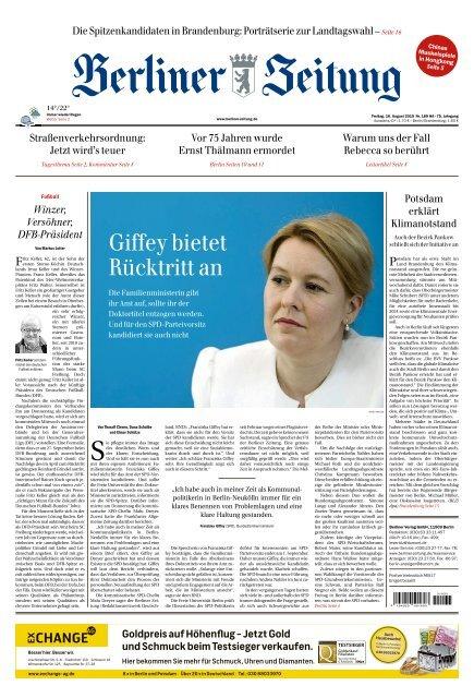 Berliner Zeitung 16.08.2019