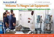 Mechanical Engineering Lab Instruments Manufacturers