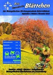 Gemeinde-Blättchen September Oktober November 2019