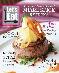 Let's Eat - Miami Spice Issue Magazine Aug. 2019