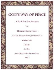 God's Way of Peace by Horatius Bonar, D.D.