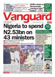 19082019 - Nigeria to spend N2.53bn on 43 ministers