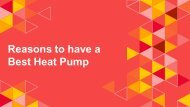Reasons to Have a Best Heat Pump