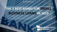 The 5 best banks for small business loans in 2019