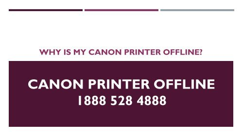 Why is my Canon Printer Offline?