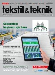 Tekstil Teknik Dergisi Ağustos 2019 Sayısı