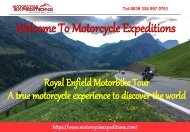 Motorcycle tour to India  Motorcycle Expeditions