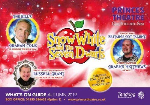 Princes Theatre, Clacton - Autumn 2019 Brochure