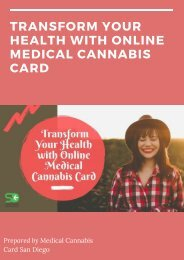 Transform Your Health with Online Medical Cannabis Card