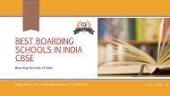 Best Boarding Schools in india for Boys | CBSE Board