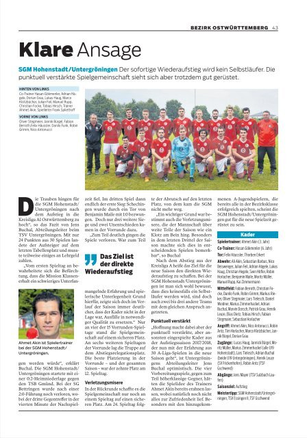 Fussball Report 2019