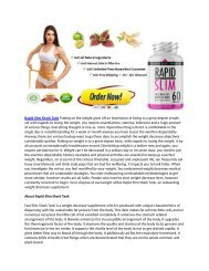 Rapid Slim Review : Can This Help You Lose Weight Rapidly?