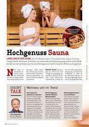 Lange Nacht der Sauna 2018 – Überblick