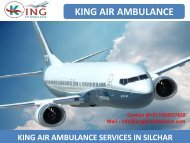 Get King Air Ambulance Services from Silchar and Gorakhpur