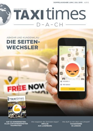 Taxi Times DACH - Doppelausgabe Juni / Juli 2019